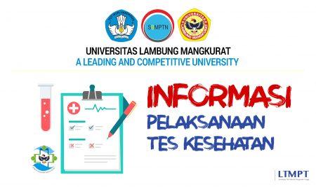 Informasi Tes Kesehatan bagi Calon Mahasiswa Baru Jalur SBMPTN 2021   ULM